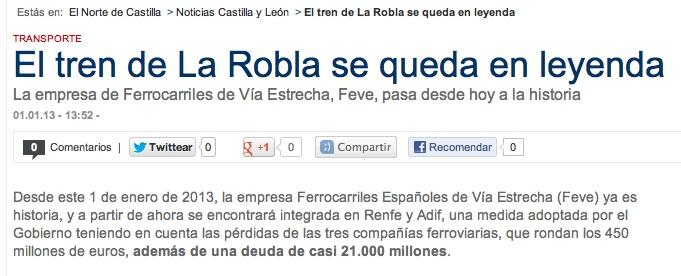 Fechas en El Norte de Castilla